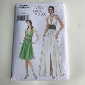 70s Vogue Backless Halter Dress Marilyn pattern